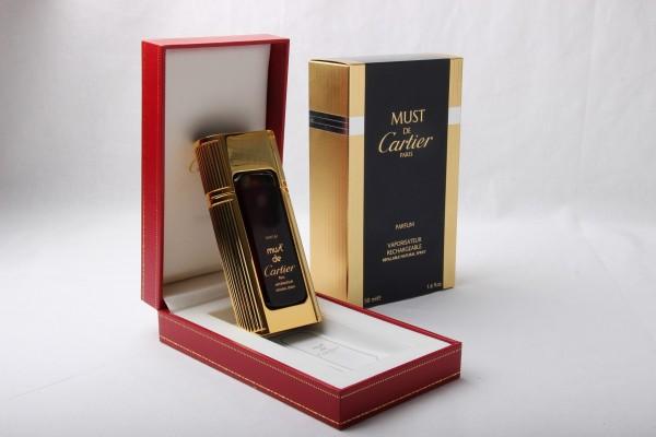 MUST DE CARTIER PARFUM VAPO RECHARGEABLE REFILLABLE Reines Parfum 50ML